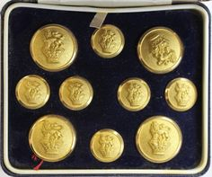 Classic Sulka 'Griffin/ Coronet' brass blazer buttons- 4 Frontal/ & 6 Sleeve New in Box! Blazer Buttons, Art Projects, Brass, Personalized Items, Art Designs, Rice