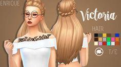 Sims 4 CC's - The Best: Hair by Enrique
