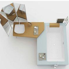 Il tavolo sposa la vasca