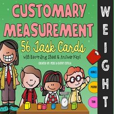 Customary Measurement Task Cards {WEIGHT} $