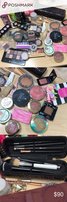 HUGE MAKEUP BUNDLE Huge lot of mixed drugstore and brand name makeup. Some used. Most full or only tried once. HUGE BUNDLE with samples and makeup bags! Makeup