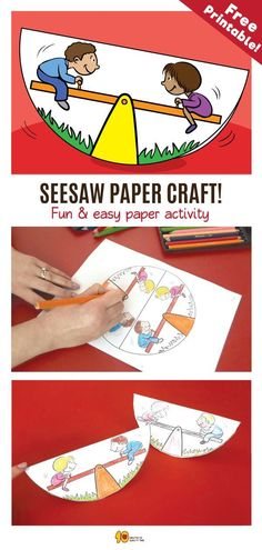 Seesaw Paper Craft For Kids Seesaw Paper Craft For Kids Related Posts Cool Card Trick Playdough And Toothpick Shapes Magnus Effect Cup Glider How To Draw A Pencil Step By Step Make A Word Game Mini Balloon Race Seesaw Paper Craft For Kids, Paper Folding Crafts, Paper Crafts For Kids, Craft Kids, Kids Seesaw, Cool Card Tricks, Mini Balloons, Dinosaur Crafts, Easy Arts And Crafts, Printable Crafts