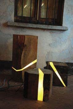 designer beleuchtung holz resten sitzplatz