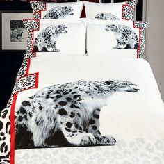 White Cheetahs Duvet Cover Set