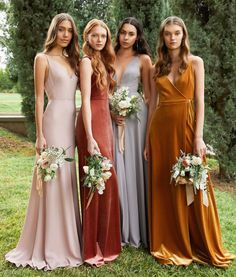 Attention all brides getting married this fall: Now is the best time to get your bridesmaids' dresses ordered! With shipping time + any needed alterations, we recommend having your girls get measured and ordered as soon as possible. To make an appointment to try on and view our bridesmaid dress collection, give us a call. Spring Bridesmaid Dresses, Mismatched Bridesmaid Dresses, Bridal Party Dresses, Wedding Bridesmaids, Prom Dresses, Wedding Dresses, Green Wedding Shoes, Boho, Wedding Bells