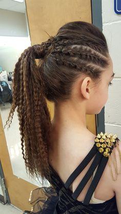 Stylist Credit: Adrienne Chabot @xoacxo  Sassy dance competition hairstyle