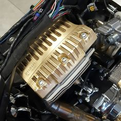 Cnc machined cylinder heads made of brass. By Tecnicad Bike Division  www.prototecnicad.it