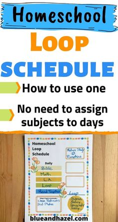 How To Set Up A Homeschool Loop Schedule, what a loop schedule is, and why its a great way to minimize time spent planning your subjects! No need pick which day youll rotate subjects you want to do a few times a week, you can put them on a loop (list) and do the next thing each day. Youll cover it all without having to feel behind on days you miss and without assigning subjects to days! Heres how our loop schedule has improved our homeschool organization! #homeschool #blueandhazel Kindergarten Homeschool Curriculum, Homeschooling Resources, Teaching Resources, Kinesthetic Learning, Routine Planner, Toddler Schedule, School Schedule, How To Plan, Aspergers