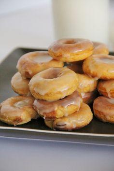 Mini Sweet Potato Doughnuts with Maple Glaze @slingmama