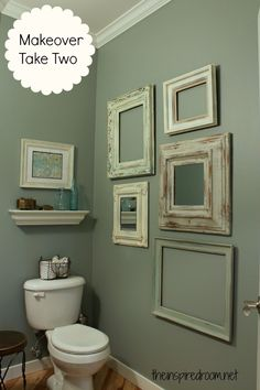 powder room take two vintage frame gallery wall
