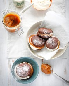 Kate Gibbs' chocolate whoopie pies sandwiched with salted caramel.