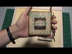 Make a mini album-book with one piece of card stock.another great video by Tracey Mini Albums, Mini Album Tutorial, Craft Tutorials, Video Tutorials, Craft Projects, Mini Photo, Book Journal, Journals, Altered Books