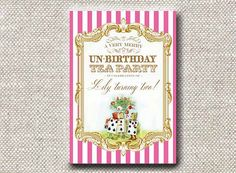 Invitation . Gilded Alice in Wonderland Collection by LoraleeLewis, $39.00
