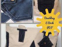 Beachbag nähen, E-Book, Strandtasche, Upcycling