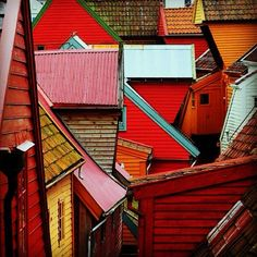 Rooftops of #Bergen #Norway #travel