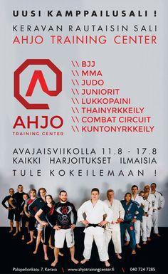 Keravan rautaisin sali. BJJ, MMA, Judo, Juniorit, Lukkopaini, Thainyrkkeily, Combat Circuit ja Kuntonyrkkeily