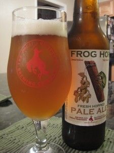 Frog Hop Fresh Hopped Pale Ale (by Theresa Carpine) #LadiesofCraftBeer