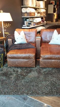 "Check out this leather sactional from our sister store!  ""4/5 5s in Durango Leather. .Lovesac Stonebriar"""