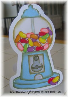 Cute Jelly Bean Shaped Card