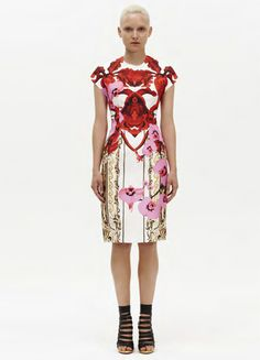 """""""Get lost in a field of patterned peonies and dashing daisies with Josh Goot's SS 12 collection."""""""