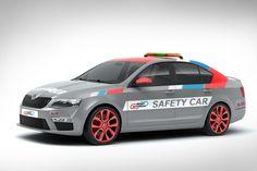 Škoda Octavia RS Safety Car design proposal   Návrh designu vozu Octavia RS Safety Car