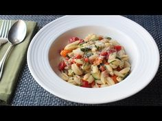"""Food Wishes Video Recipes: Summer Vegetable Cavatelli with Fresh Corn """"Cream"""" – Corn Not Cows!"""