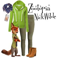 Wilde by silentair on Polyvore featuring мода, Laurence Dacade, BeckSöndergaard, Casetify, disney, disneybound and zootopia