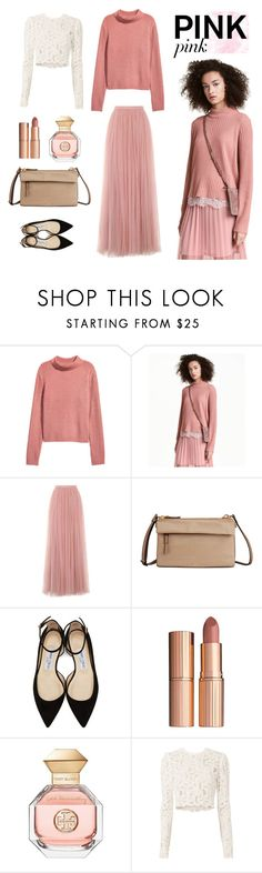 """Untitled #220"" by mbnduta ❤ liked on Polyvore featuring Little Mistress, Tumi, Jimmy Choo, Charlotte Tilbury, Tory Burch and A.L.C."