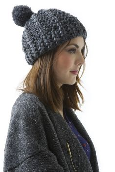 love the pom pom on this hat.. looks super warm and cozy