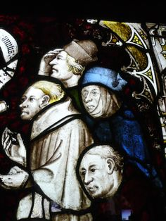 York Minster East Window; pannel 5b: The worship of the Beast, detail.