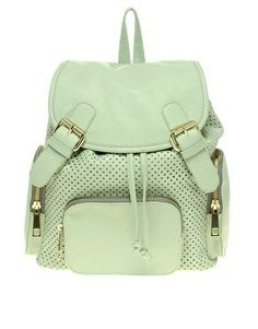 Discover women's handbags and bags with ASOS. Shop hundreds of styles including purses, backpacks for women and many more. Shop the bags for women at ASOS. Pastel Backpack, Backpack Purse, Leather Backpack, Fashion Backpack, Rucksack Bag, Green Backpacks, Cute Backpacks, Asos, Shoes