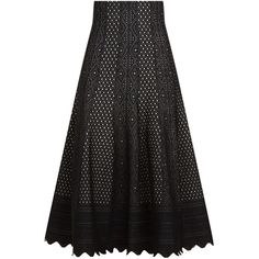Alexander McQueen Jacquard Lace Fluted Midi Skirt ($1,385) ❤ liked on Polyvore featuring skirts, gothic skirts, scalloped lace skirt, scallop hem skirt, jacquard midi skirt and lace skirt