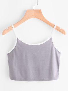Shop Contrast Trim Cami Top online. SheIn offers Contrast Trim Cami Top & more to fit your fashionable needs.