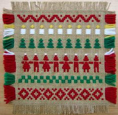 Tontut virvittäin ja jouluisia virvittäinkuvioita Diy Crafts For School, Christmas Crafts For Kids, Diy And Crafts, Arts And Crafts, Christmas Ornaments, Hobbies And Crafts, Handicraft, Bohemian Rug, Burlap