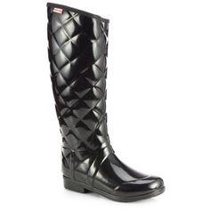 Hunter Sandhurst Savoy Quilted Rain Boots - Polyvore