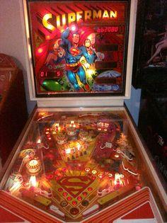 Superman Pinball Machine by Atari 1979 restored Man of Steel   arcade game video #Atari