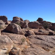 Rocks upon rocks just sitting there like they were dropped from the sky