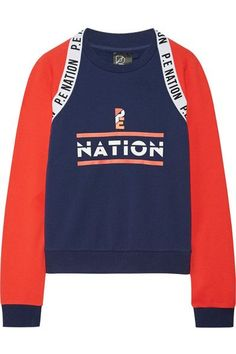 E Nation - The Wembley Printed French Cotton-terry Sweatshirt - Navy 40feafbc7e2