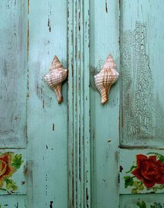sea shells for door knobs