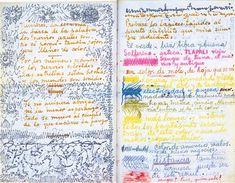 """""""Sadness and science are green"""", Tagebuch von Frida Kahlo"""
