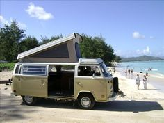 #VW #Camper #Van on the #Beach - Do the #Adventures get better? #Travel #Wanderlust #Volkswagen #Classic #RoadTrip