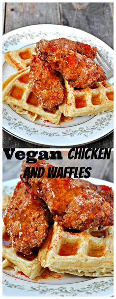 Vegan Chicken and Waffles with Spicy Maple Syrup