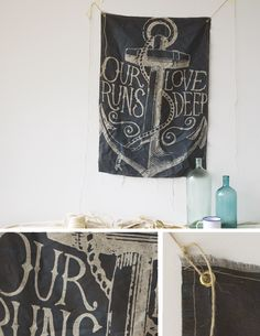 lust for an object is a sick symptom of our consumerist world. and i'm all up in it. Our Love - Wall Flag (600 x 900mm)