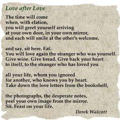 Love after Love - a poem by Derek Walcott