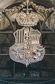 Sedlec Ossuary, Czech Republic - Coat of arms made of bones