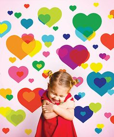 Another great find on #zulily! Overlapping Heart Decal Set #zulilyfinds