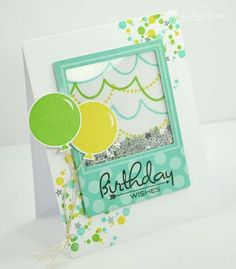 Birthday Wishes Card by Nichole Heady for Papertrey Ink (March 2013)