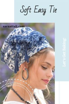 💛🧡This lovely, soft, handcrafted headscarf is an alluring combination of blue and white fabric, with additional blue tassels for special knots. It can be tied in multiple ways. #ticheloftheday #tichel #tichels #headcoveringmovement #headcovering #headscarf #veil #vintagefashionchallenge #vintage #snood #headpiece #doityourself #Inspire #Turban #beautiful #beauty #makeup #fashion #style #love #jewish #judaic #judaism #volumizer #hebrew #ashkenazi #flower #