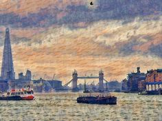 The Thames at Tower Bridge Pinterest Co, Tower Bridge, Artsy, Painting, Painting Art, Paintings, Drawings
