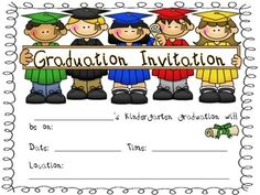 Free These Are Graduation Invitations Perfect For Celebrating The End Of Kindergarten I